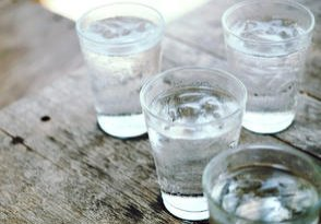 Drinking Glasses On Wooden Table